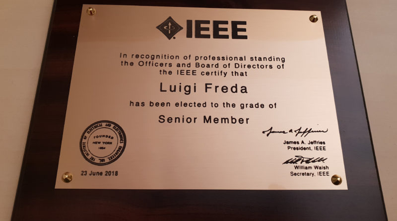 IEEE Senior Member Elevation