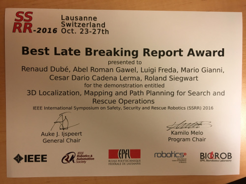 Best Late Breaking Report at SSRR 2016